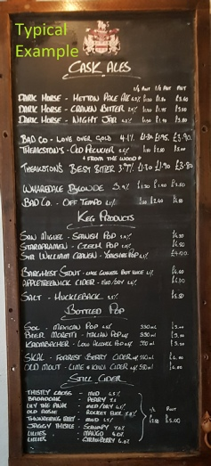 Sample of the Ale Board
